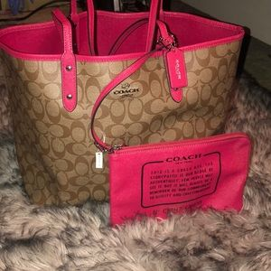 Reversible Coach signature Tote Bag